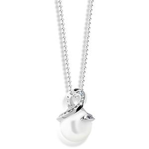 Zodiax Přívěsek z bílého zlata s přírodní perlou a zirkony DLP 3154 W