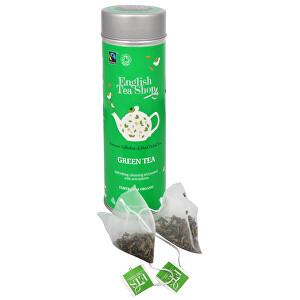 Zobrazit detail výrobku English Tea Shop Čistý zelený čaj - plechovka s 15 bioodbouratelnými pyramidkami