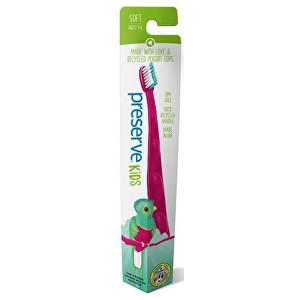 Zobrazit detail výrobku Preserve Dětský zubní kartáček soft - růžový