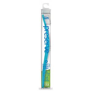 Preserve Zubní kartáček soft - azurový