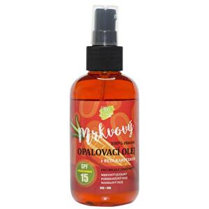 Vivaco Přírodní opalovací mrkvový olej OF 15 150 ml