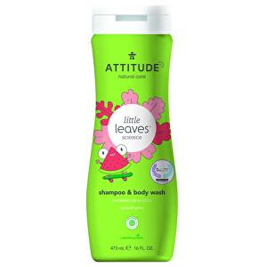Zobrazit detail výrobku ATTITUDE Dětské tělové mýdlo a šampon (2 v 1) ATTITUDE Little leaves s vůní melounu a kokosu 473 ml