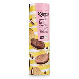 Zobrazit detail výrobku Veganz Dvojité sušenky s kakaovou náplní, Bio 330 g
