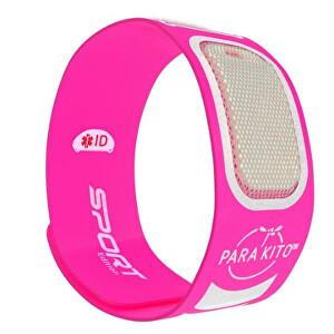 Zobrazit detail výrobku PARA`KITO Sportovní náramek proti komárům PARA`KITO + 2 náplně Růžový