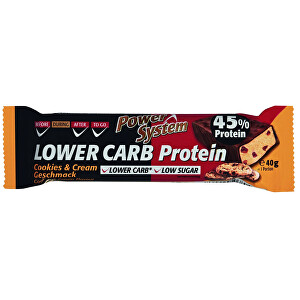 Zobrazit detail výrobku Power System LOWER CARB Cookies & Cream Bar with 45% Protein 40 g
