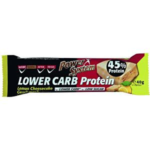 Zobrazit detail výrobku Power System LOWER CARB Lemon Cheesecake Bar with 45% Protein 40 g
