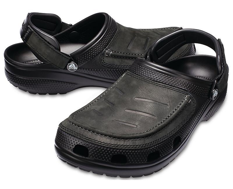 Crocs Šľapky Yukon Vista Flat Black/Black 205177-060 45-46