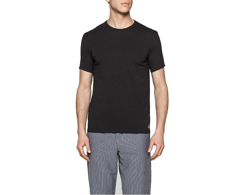 Calvin Klein Pánske tričko CK Sleep Cotton S   S Crew Neck NB1164E-001 Black 4ae80762ca8