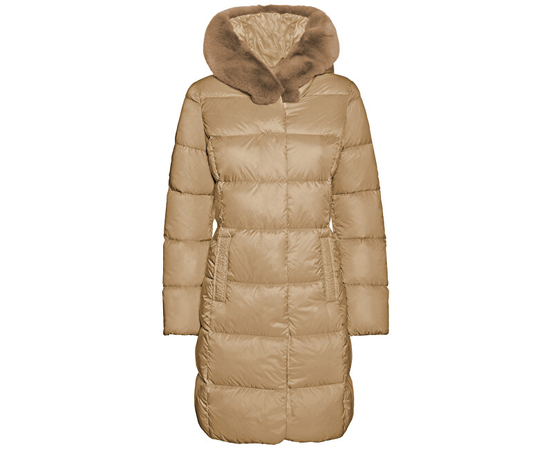 GEOX Dámska bunda Faviola Long Jkt Light Mink W8425K-T2449-F5169 40