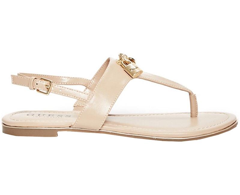 075e709bdfc8 Guess Dámske sandále Factory Women`s Darryl T- Strap Sandals Tan 37