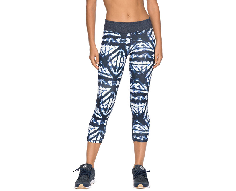Roxy Dámske fitness legíny Natural Twist Capri Dress Blue Geometric Feeling ERJWP03014-BTK6 S