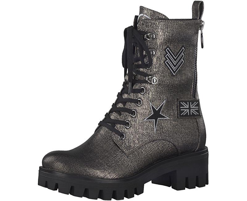 Tamaris Elegantná dámske členkové topánky 1-1-25755-39-915 Pewter 40