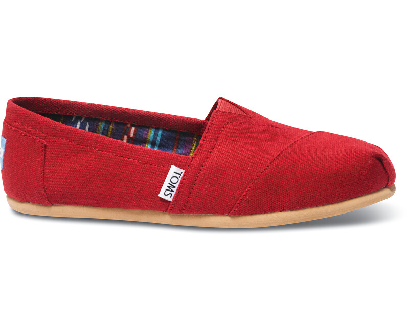 TOMS Dámske Slip-On Red Canvas Core Class ic s Alpargata s 36,5