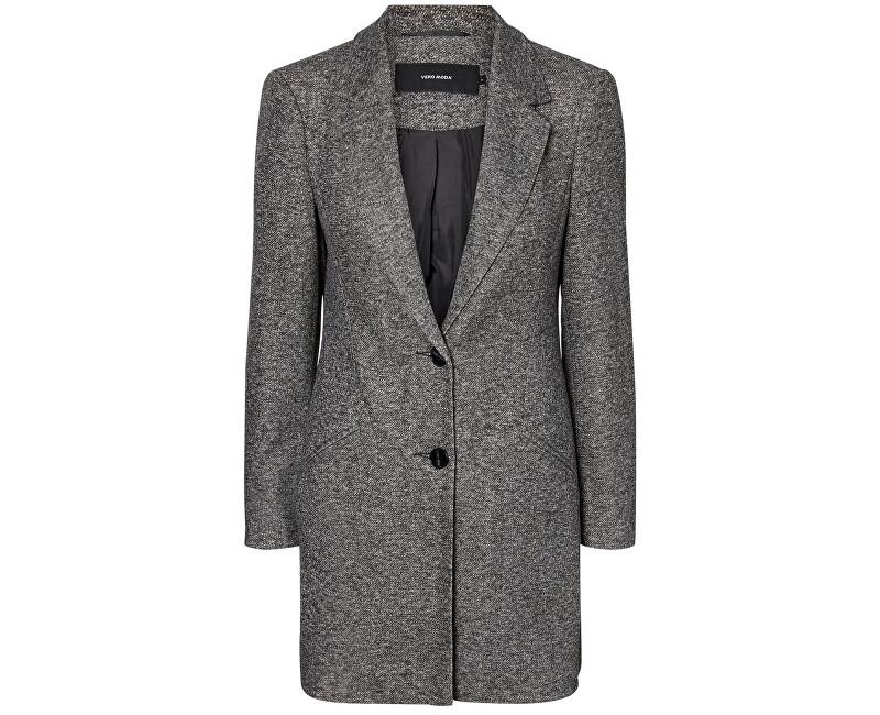 Vero Moda Dámský kabát Jackie Cool 3/4 Jacket Boos Dark Grey Melange L