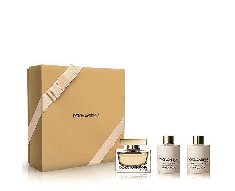 Dolce & Gabbana The One EdP 75 ml + telové mlieko 100 ml + EdP 7,4 ml darčeková sada