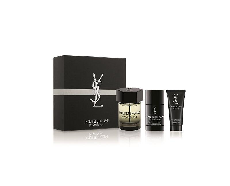 Yves Saint Laurent La Nuit De L` Homme - EDT 100 ml + tuhý deodorant 75 ml + sprchový gél 50 ml