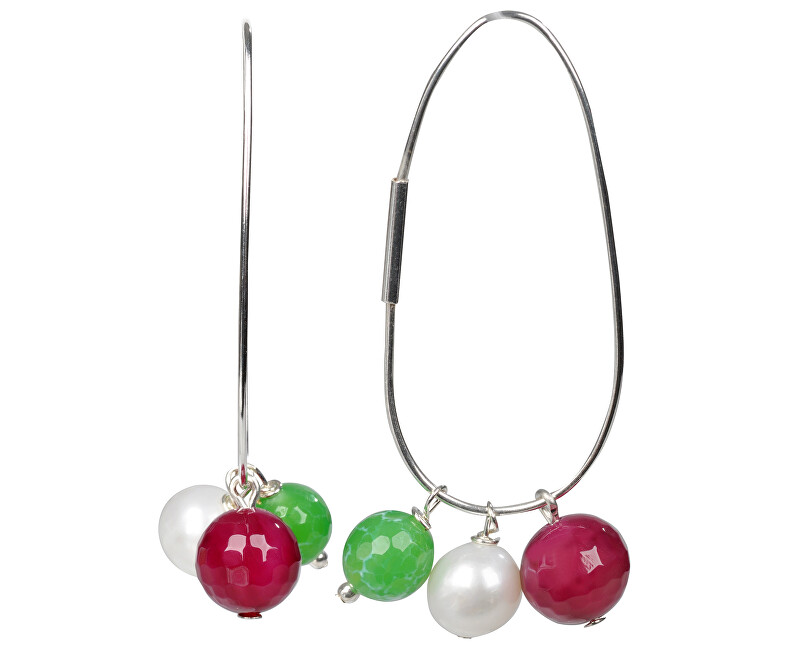 JwL Luxury Pearls Náušnice 4v1 - s výmennými prívesky JL0023