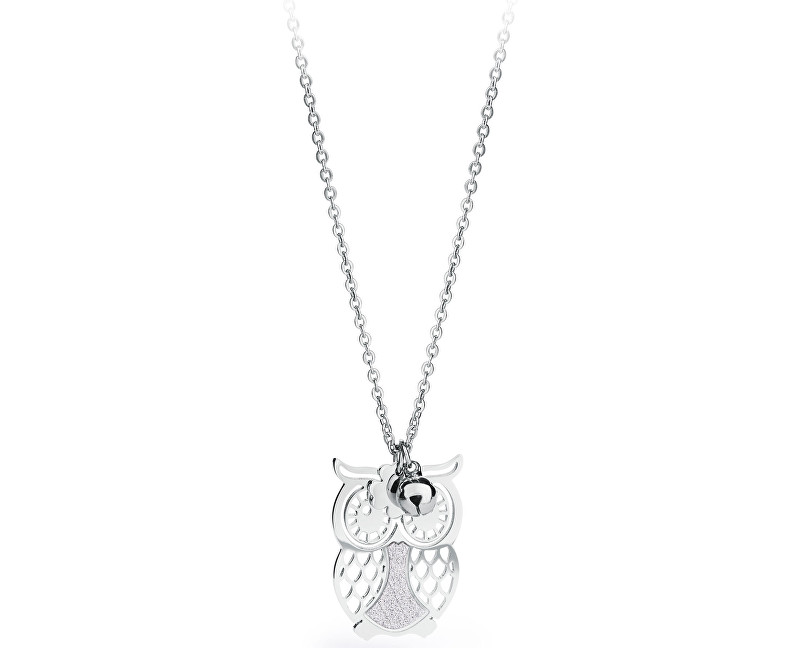 S`Agapõ Strieborný náhrdelník Sova Gaia SGA04