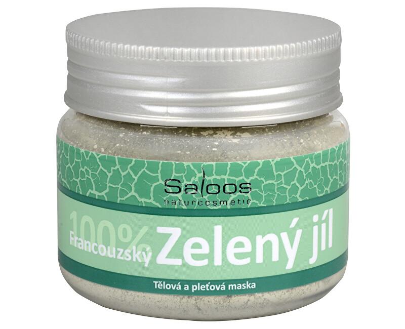 Saloos Green Clay telová a pleťová maska (100% French) 80 g