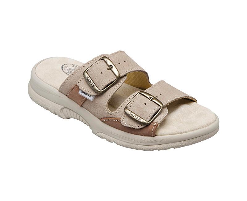 SANTÉ Zdravotná obuv dámska N / 517/33/28/47 / SP béžovo-hnedá vel. 39