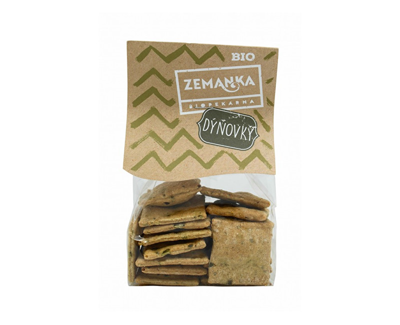 Biopekárna Zemanka Bio Špaldové krekry s tekvicovým semienkom a cesnakom 100g