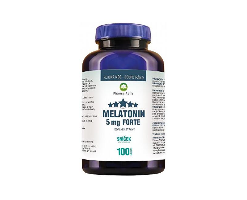 Melatonin 5 mg Forte 80 tbl. + 20 tbl. ZDARMA + Škraboška na spaní ZDARMA