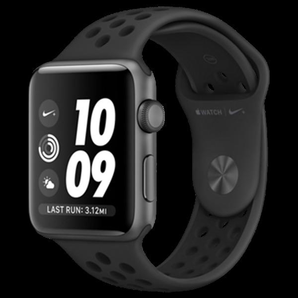 Apple Watch Nike+ 42mm vesmírně šedý hliník s antracitovým/černým Nike sportovním řemínkem