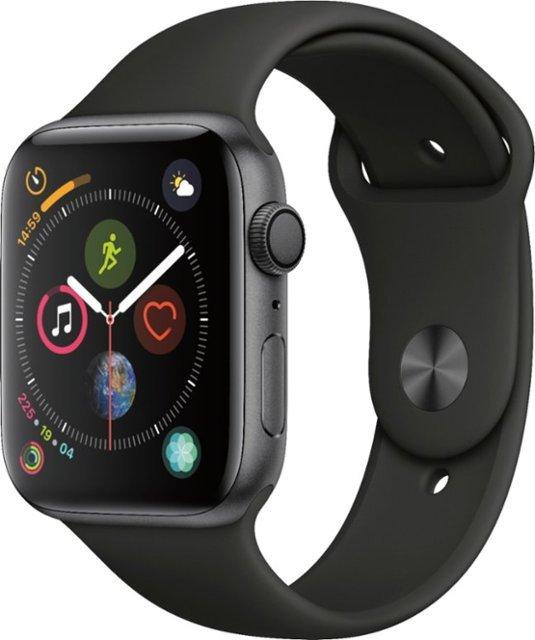 Apple Watch Series 4 44mm vesmírně šedý hliník s černým sportovním řemínkem