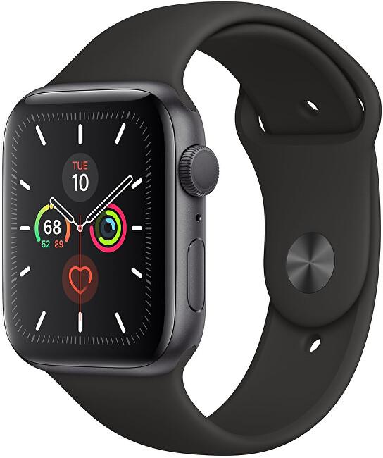 Apple Watch Series 5 44mm vesmírne šedý hliník s čiernym športovým remienkom