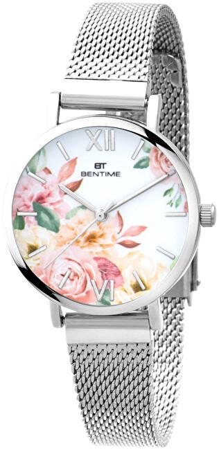 Bentime Dámské květinové hodinky 007-9MB-PT610119A
