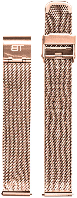 Bentime Kovový mesh s easy clickem - růžově zlatý 18 mm