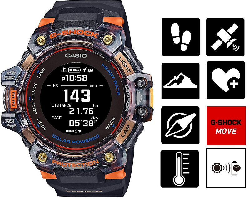 Casio G-Shock Bluetooth Solar GBD-H1000-1A4ER (645)