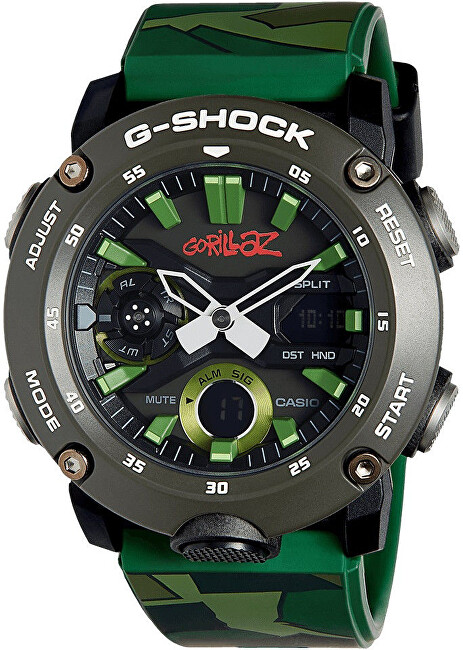 Casio G-Shock Carbon Core Guard Gorillaz Limited Edition GA-2000GZ-3AER (633) - Dárkový set