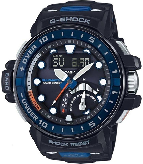 Casio G-Shock Gulfmaster GWN-Q1000-1AER Solar Rádiově řízené