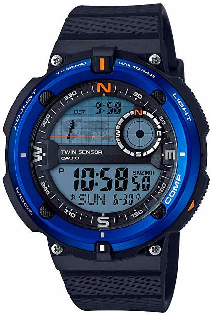 Casio SGW 600H-2A s teploměrem, kompasem a světovým časem