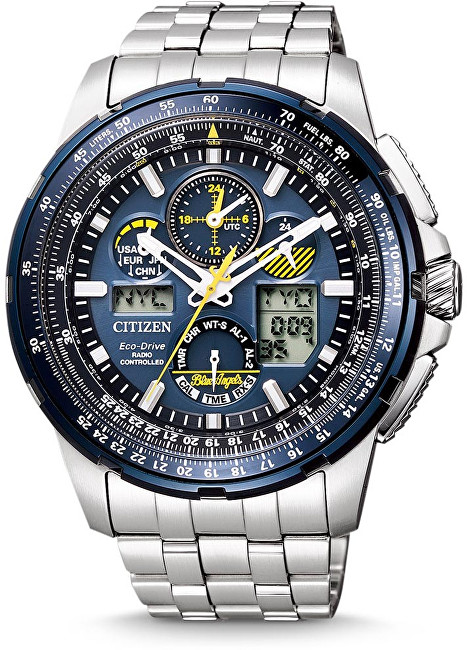 Citizen Eco-Drive Promaster Skyhawk Radio Controlled Blue Angels JY8058-50L