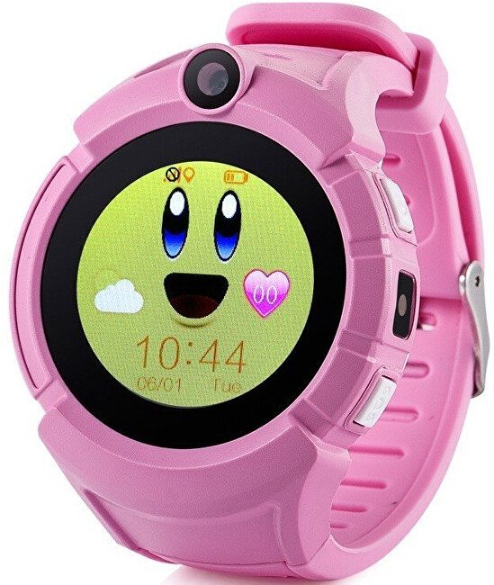 CEL-TEC GW600 dětské hodinky s GPS růžové