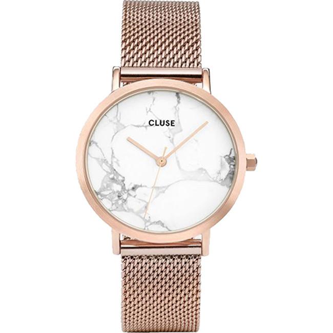 8c892a725a16 Cluse La Roche Mesh Rose Gold-White Marble CL40007
