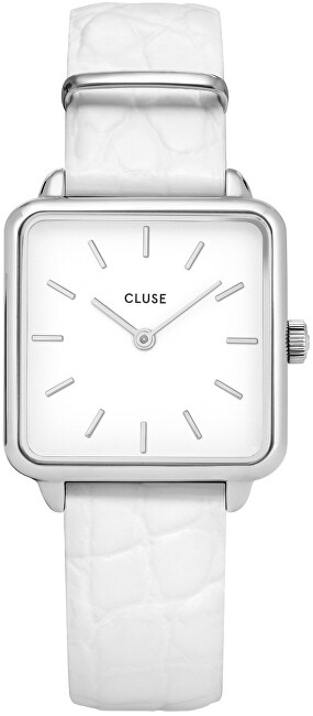 Cluse La Tétragone Silver/White Alligator CL60017