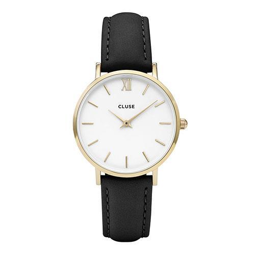 Cluse Minuit Gold White-Black CL30019