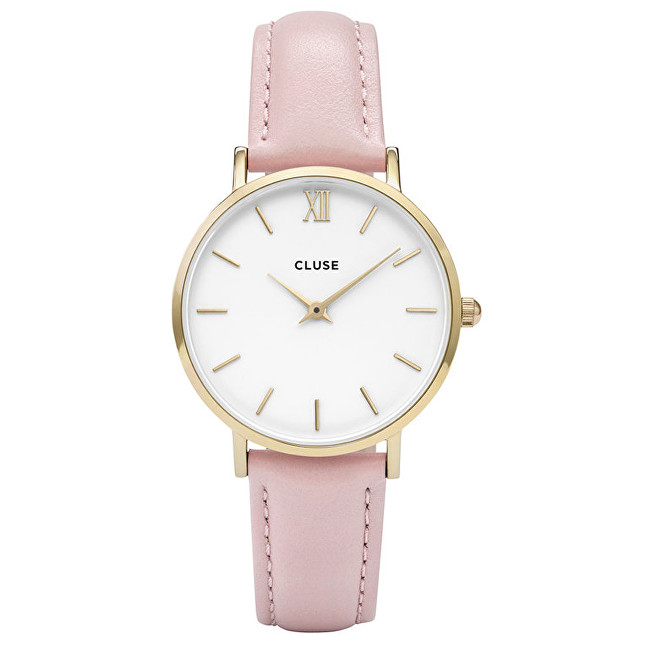 Cluse Minuit Gold White-Pink CL30020