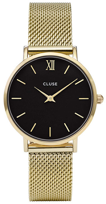 Cluse Minuit Mesh Gold-Black CL30012