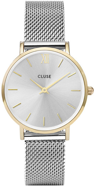 Cluse Minuit Mesh Gold-Silver CL30024