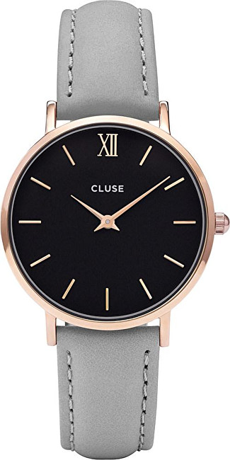Cluse Minuit Rose Gold Black-Grey CL30018