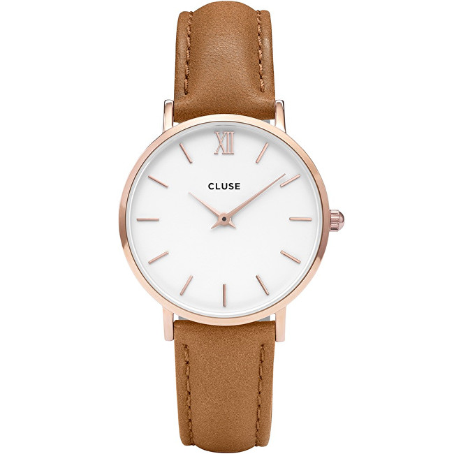 Cluse Minuit Rose Gold White-Caramel CL30021