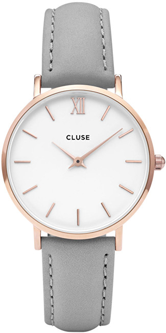 Cluse Minuit Rose Gold White-Grey CL30002