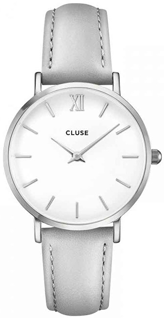 Cluse Minuit Silver White Grey CL30006