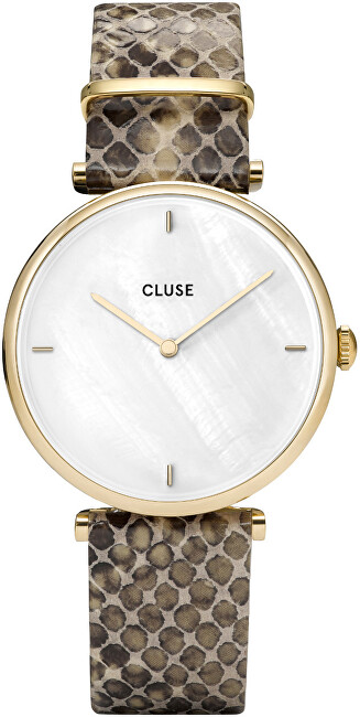 Cluse Triomphe Gold White Pearl-Soft Almond Python CL61008