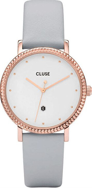 Cluse Le Couronnement Rose Gold White-Soft Grey CL63001