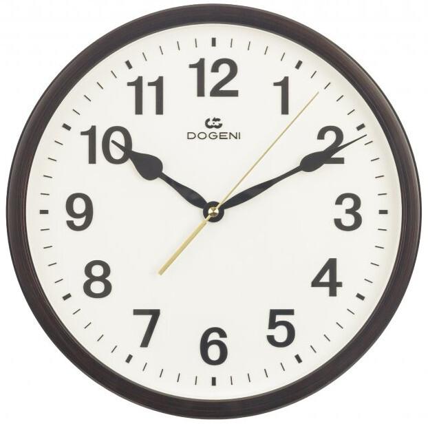 DOGENI Nástěnné hodiny s tichým chodem WNP002DB